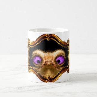 Gold Crossed Ostrich Coffee Mug