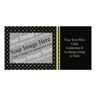 Gold Crosses Photo Card Template