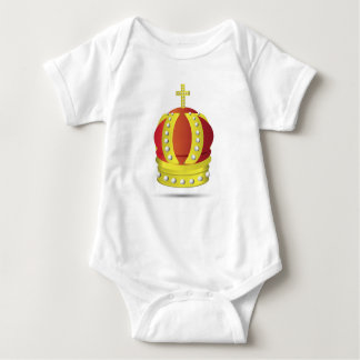 gold crown baby bodysuit