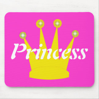 Gold Crown Princess Mouse Pad