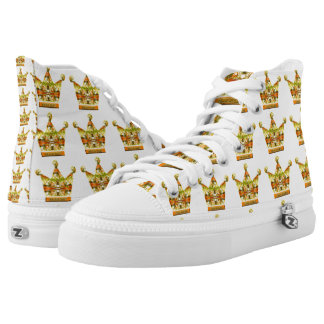 Gold Crowns of Tink Fairytale Art by Deprise High Tops