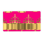 Gold crowns on hot pink
