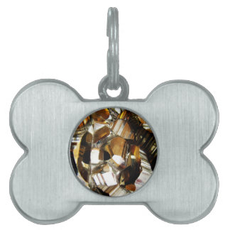 Gold Crystal Mineral Stone Pet Tag