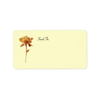 Gold cut Rose address lables