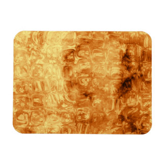 Gold Daisy Reflections Rectangular Photo Magnet