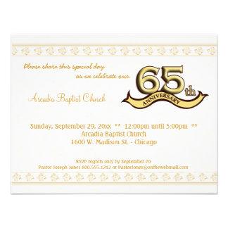 Gold Damask 65th Anniversary Celebration Invite