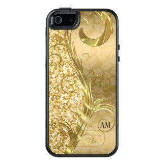 Gold Damask And Glitter OtterBox iPhone 5/5s/SE Case