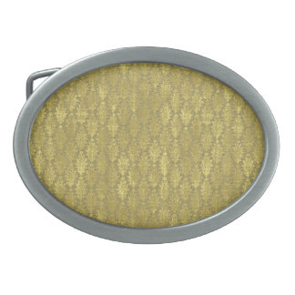 Gold Damask Belt Buckles