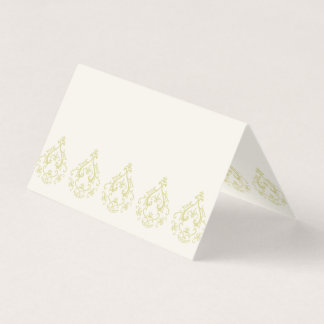 Gold Damask Blank Place Cards