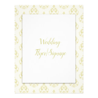 Gold Damask Blank Wedding Flyer