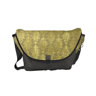 Gold Damask Commuter Bags