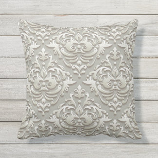 Gold Damask Decorative Pillow