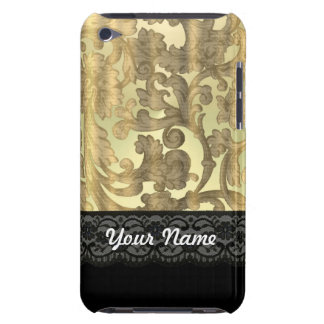 Gold damask & lace iPod touch Case-Mate case