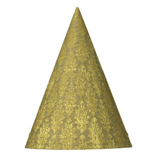 Gold Damask Party Hat