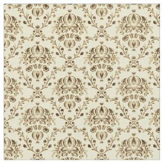 Gold Damask Print Fabric