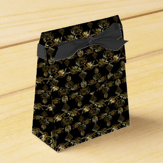 Gold Damask Style Pattern Favour Box Favor Boxes