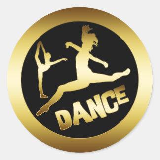 GOLD DANCER CLASSIC ROUND STICKER
