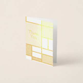 Gold De Stijl | Blank Card