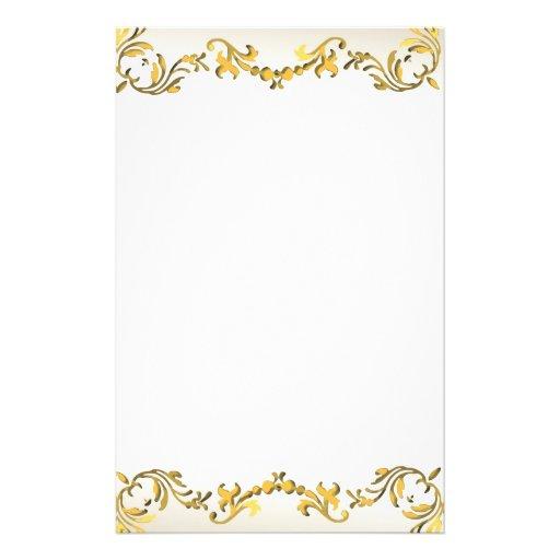 Gold Decorative Scroll Border Flyer