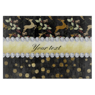 Gold Deer Confetti Diamonds Chalkboard Boards