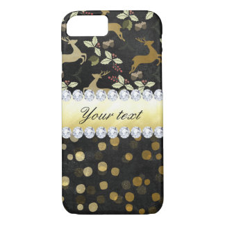 Gold Deer Confetti Diamonds Chalkboard iPhone 8/7 Case