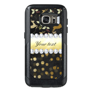 Gold Deer Confetti Diamonds Chalkboard OtterBox Samsung Galaxy S7 Case
