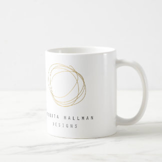 Gold Designer Scribble Personalized Mug