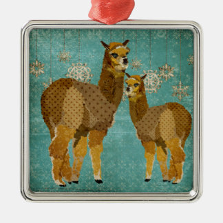 Gold Diamond Alpacas Ornament