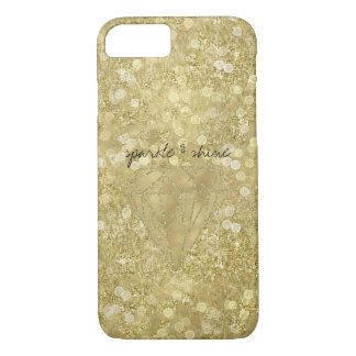Gold Diamond Glittery Sparkle and Shine iPhone 8/7 Case
