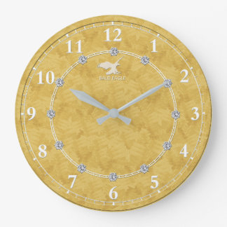 Gold Diamond Modern Decorated 2-a Wall Clock Sale