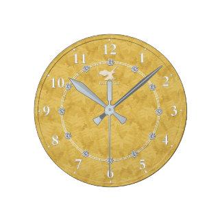 Gold Diamond Modern Decorated 2-b Wall Clock Sale
