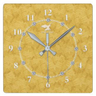 Gold Diamond Modern Decorated 2-c Wall Clock Sale
