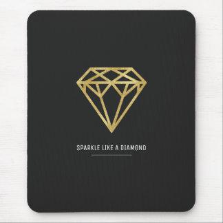 Gold Diamond Mouse Pad