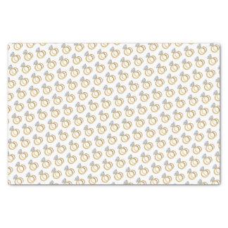 Gold Diamond Wedding Ring Set Pattern Design Tissue Paper