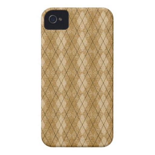 Gold Diamonds Argyle Pattern Blackberry Bold Case