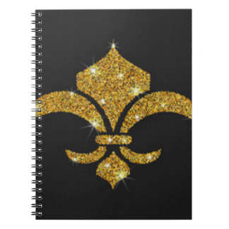 Gold Diamonds Fleur De Lis Notebook