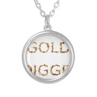 Gold Digger Silver Plated Necklace