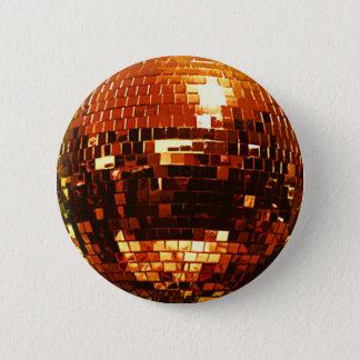 GOLD Disco Ball Button