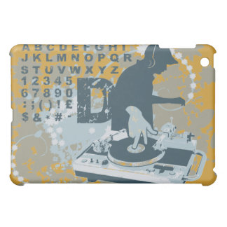 Gold DJ Scratching Hip Hop Music  Case For The iPad Mini