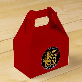 Gold Dog Papercut Chinese New Year 2018 Favor Box