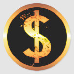 GOLD DOLLAR SIGN STICKERS