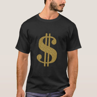 Gold Dollar Sign T-Shirt
