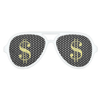 Gold $ Dollar Signs Bling Party Favor Sunglasses