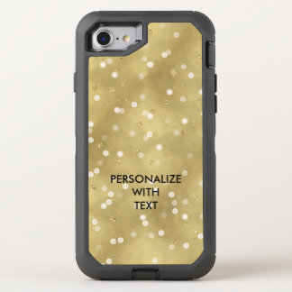 Gold Dots Bokeh Confetti OtterBox Defender iPhone 8/7 Case