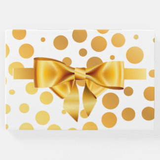Gold Dots Guest Book