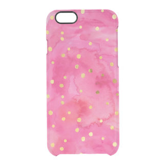 Gold Dots & Hot Pink Watercolor iPhone 6/6s Case