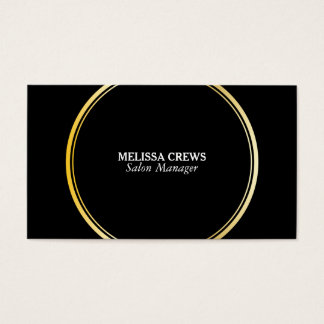 Gold Double Ring Business Card