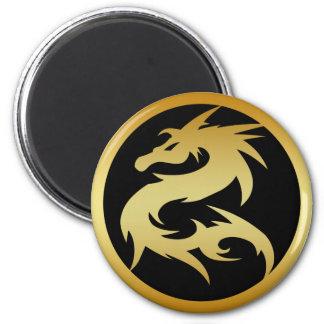 GOLD DRAGON 2 INCH ROUND MAGNET