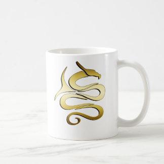 GOLD DRAGON CLASSIC WHITE COFFEE MUG