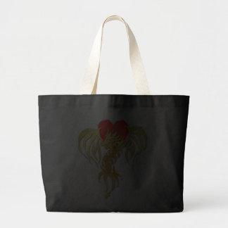 GOLD DRAGON HEART TOTE BAG